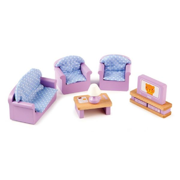9 piece Tidlo dolls house living room set.